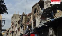 جانب من الدمار في مخيم عين الحلوة جراء الاشتباكات الاخيرة