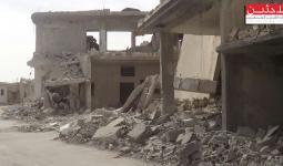 هاون على مخيم درعا والأضرار مادية (أرشيفية)