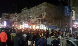 فلسطين المحتلة-من التظاهرة الاحتجاجية في مخيم النصيرات