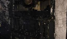 جانب من الأضرار المادية التي تسبب بها الحريق