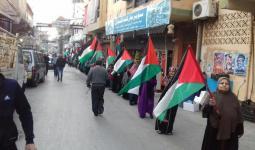 سلسلة بشرية في مخيّم البرج الشمالي دعماً للقدس المحتلة والأسرى في سجون الاحتلال