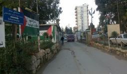 مدخل مخيم البداوي في شمال لبنان