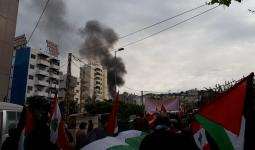 الأمن اللبناني يقمع المُحتجين أمام السفارة الأمريكية