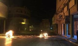 خلال المواجهات في شارع عمان