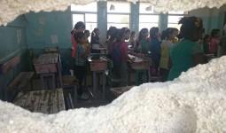 صورة ارشيفية لأطفال في مدارس الأونروا في مخيم خان الشيح للاجئين