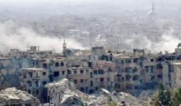 جانب من الدمارفي مخيّم اليرموك