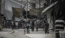معبر العروبة الفاصل بين مخيم اليرموك وبلدة يلدا