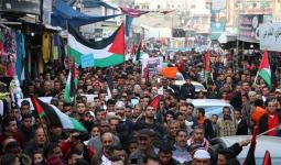 الآلاف يُشاركون في مسيرة مخيّم النصيرات رفضاً لاستنزاف أهل غزة