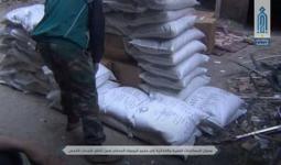 المساعدات التي وصلت لهيئة تحرير الشام في مخيم اليرموك