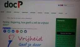 العريضة الالكترونية التي اطلقتها مؤسسة الضمير الهولندية