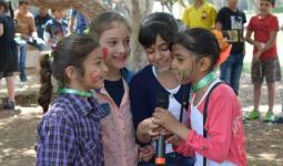 الصورة خلال احدى النشاطات الترفيهية للاطفال