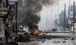 قوات النظام تستهدف مناطق في مخيم اليرموك للاجئين