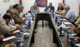 خلال اجتماع القوى الوطنية والاسلامية في قطاع غزة