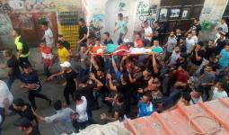 من تشييع الشهيد سعد أبو أسير في مخيم جنين