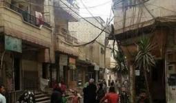 الصورة لأحد شوارع مخيّم النيرب من الداخل