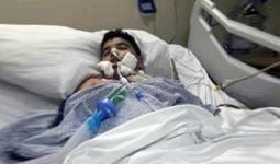 الطفل الفلسطيني محمود عمر الهندي يقضي بعد شهر من تعرضه لحادث سير مروع