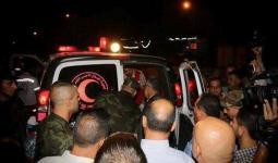 خلال استلام جثمان الشهيد قتيبة زهران