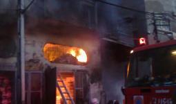 إصابات في حريق منزل بمخيّم جرش
