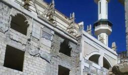 بالصور: استمرار اعمال ترميم جامع الهدى في مخيّم خان الشيح