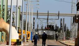 صورة أرشيفة لاحدى محطات توليد الكهرباء في القطاع