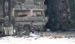 استمرار خروج الأهالي من منطقة الريجة المحاصرة في مخيّم اليرموك
