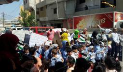 وقفة تضامنية في مخيّم الرشيديّة مع الأسرى في سجون الاحتلال
