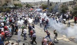 صورة من قمع قوات الاحتلال للمصلين يوم الجمعة