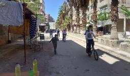 شارع النخيل المستهدف من قبل قناصة داعش