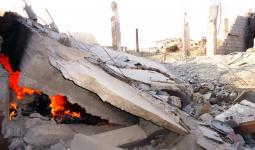 صورة أرشيفية خلال قصف سابق