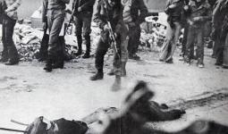 خلال دخول الانعزالين لمخيم تل الزعتر واعدام المدنيين