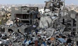صورة أرشيفية لمنازل متضررة جراء العدوان الصهيوني على غزة