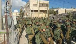 فلسطين المحتلة- من اقتحام المنطقة الجنوبية في الخليل صباح اليوم