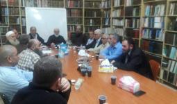 جانب من الاجتماع في مسجد النور