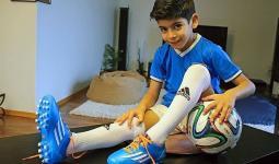 الطفل الفلسطيني راشد الحجاوي لاعب يوفينتوس دون 10 أعوام.