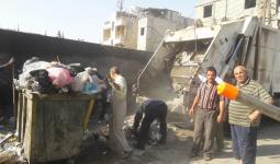 خلال عملية إزالة النفايات