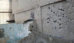 جانب من الدمار في أحد المنازل بمخيم درعا