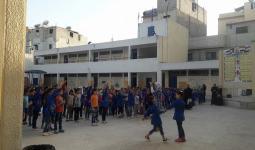 من احدى المدارس في مخيم النيرب