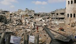 احدى المناطق المدمرة جراء العدوان الصهيوني على غزة
