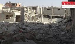 جانب من الدمار في مخيم درعا
