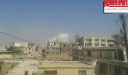 صورة من القصف الذي طال مخيّم درعا خلال الأيام الماضية
