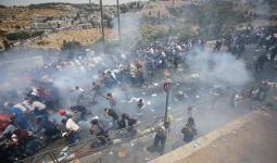 خلال المواجهات مع قوات الاحتلال