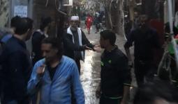 خلال نزول الأهالي إلى شوارع المخيم لوقف الاشتباك يوم أمس