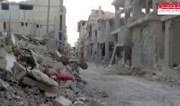 استهداف مكثّف لمخيّم درعا صباح اليوم