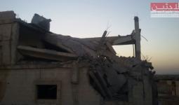 آثار الدمار في ممتلكات المدنيين بمخيم خان الشيح