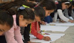 مركز يافا يختتم فعاليات نادي الربيع بمشاركة (70) طفلاً في مخيّم بلاطة