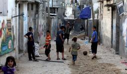 صورة أرشيفية لأحد مخيمات قطاع غزة