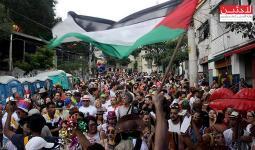 العلم الفلسطيني يرفع عالياً في الكرنفال الرسمي في البرازيل