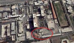 صورة توضيحية لمكان وجود فرع فلسطين التابع للنظام السوري