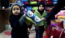 هيئة فلسطين الخيرية تؤمن مستلزمات الشتاء لمدرسة الجرمق البديلة