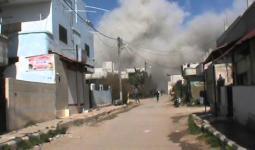 النظام يشن غارة جوية على بلدة المزيريب  (أرشيف)